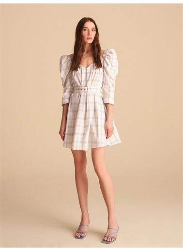 Nocturne Ekose Mini Elbise Renkli
